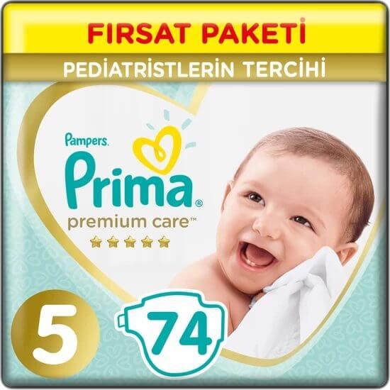 Prima Bebek Bezi Premium Care 5 Beden 74 Adet Junior Fırsat Paketi Fiyatı