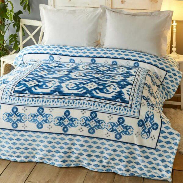 Karaca Home Neos Mavi Çift Kişilik Wellsoft Battaniye Fiyatı
