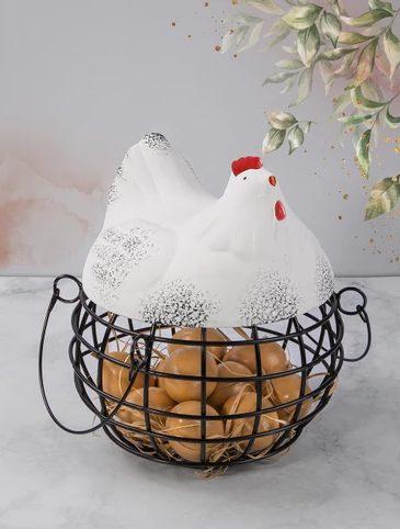 Dekoratif Yumurtalık Tavuk Yumurta Sepeti Tavuk Figürlü Yumurtalık Fiyatı