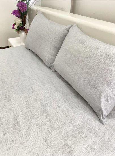 Taşan Tekstil Çift Kişilik Lastikli Çarşaf Takımı Düz Desen Gri Fiyatı