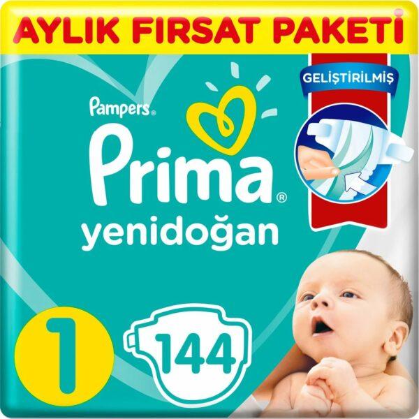 Prima Bebek Bezi Aktif Bebek 1 Beden 144 Adet Aylık Fırsat Paketi Fiyatı